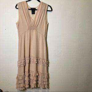 Derek Lam Pink Silk Ruffle Midi Dress 10